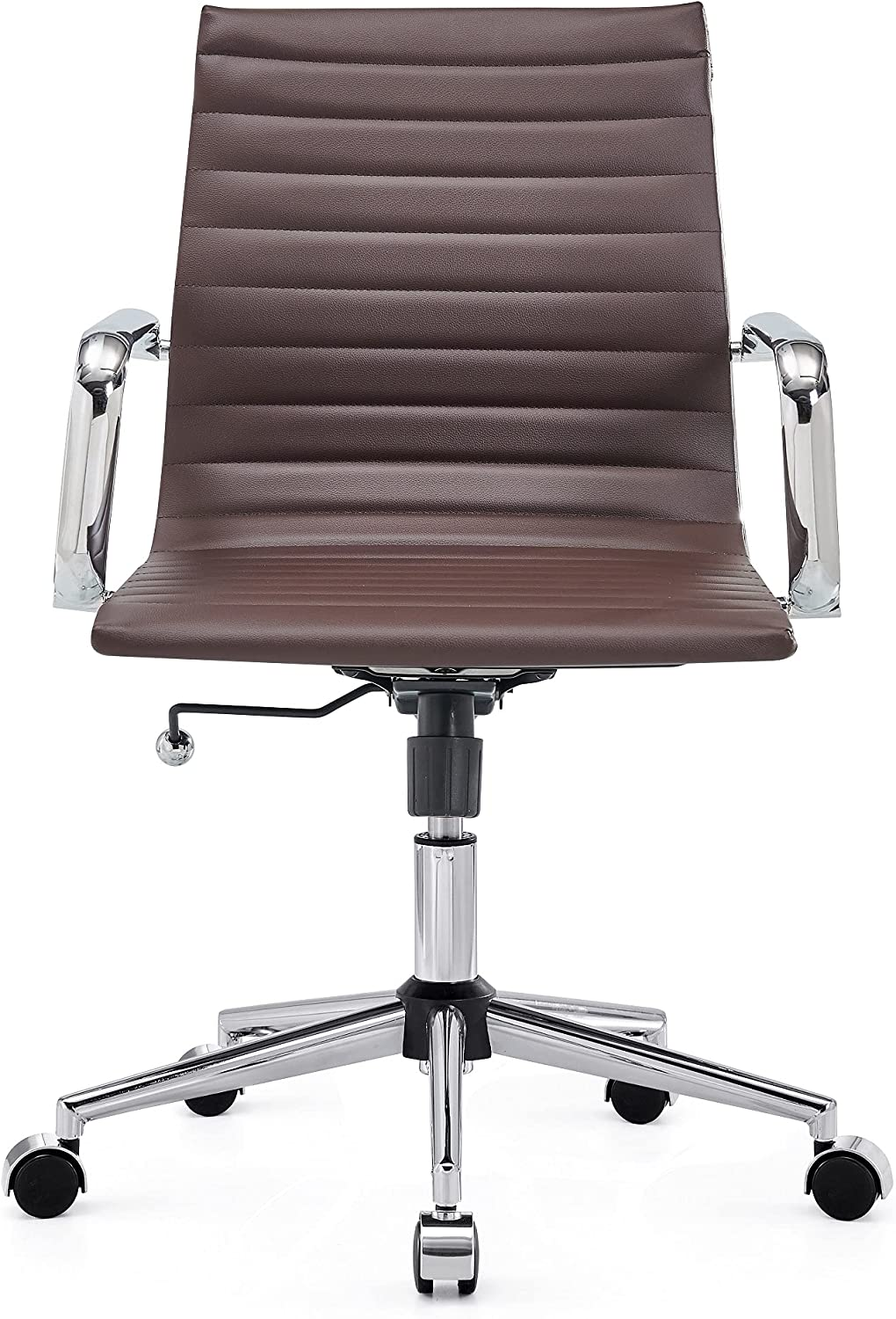 CAROCC Office Chair with Lumbar Support Desk Chairs with Wheels Chairs for Office Desk (3011 Brown)