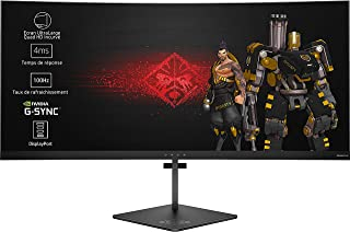 HP Omen X X3W57AA monitor zakrzywiony 88,9 cm (35 cali) (Gaming UWQHD 100 Hz g synchroniczna regulacja wysokości), czarny