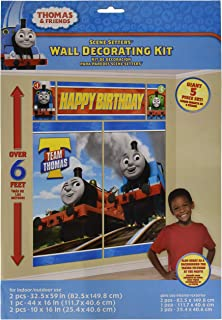 Thomas the Tank Engine Scene Setter Photo Background Poster 5 count Birthday Party Supplies, Multicolor