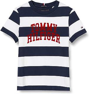 Tommy Hilfiger Rugby Stripe Graphic tee S/S Camisa para Niños