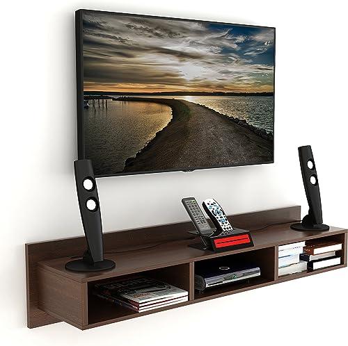 BLUEWUD Wudville engineered wood TV Entertainment Unit ,Wenge