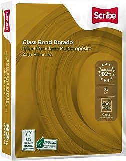 Scribe Papel Reciclado Multipropósito Desempeño, Impresoras Laser y de Inyección de Tinta, Paquete de 500 Hojas, color Dorado