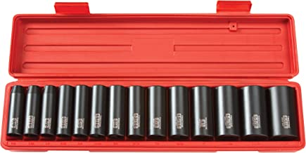 TEKTON 1/2-Inch Drive Deep Impact Socket Set, Inch, Cr-V, 6-Point, 3/8-Inch - 1-1/4-Inch, 14-Sockets | 4880
