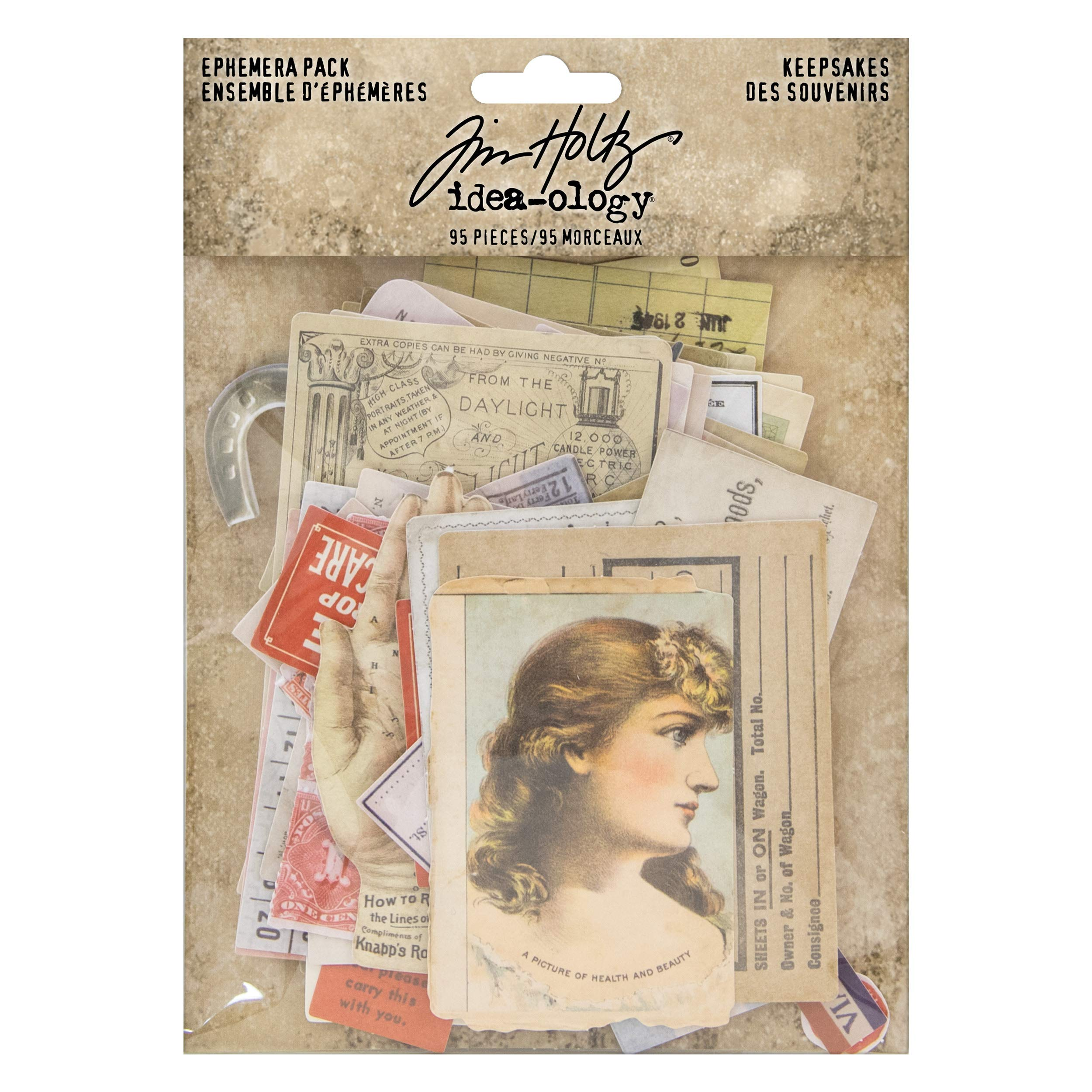 Advantus TH93958 Ephemera Pack recuerdos impresos multicolor Tim Holtz
