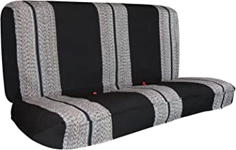 Saddle Blanket Black Full Size Pickup Trucks Bench Seat Cover Universal Work with Chevrolet Dodge Ford Bench Seats - Leader Accessories