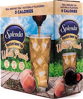 Sponsored Ad - SPLENDA White Peach Premium Sweet Green Tea On Tap, Sweetened With Splenda ( fluid ounces/1 gallon) Bag In ...