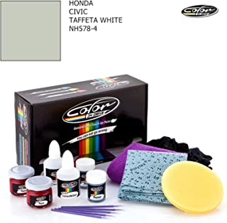 HONDA CIVIC / TAFFETA WHITE - NH578-4 / COLOR N DRIVE TOUCH UP PAINT SYSTEM FOR PAINT CHIPS AND SCRATCHES / PRO PACK