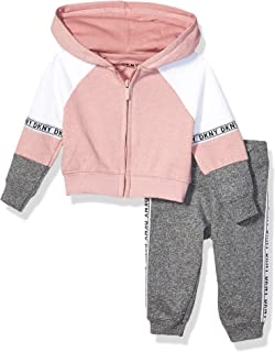 DKNY Baby Girls Fleece Hoodie and Jogger Set