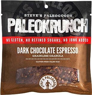 Steve's PaleoGoods, PaleoKrunch Bar Dark Chocolate Espresso, 1.5 oz (Pack of 12)