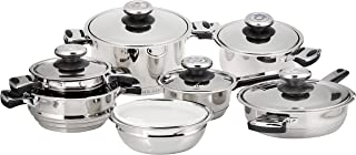 16 pcs stainless steel cookware set