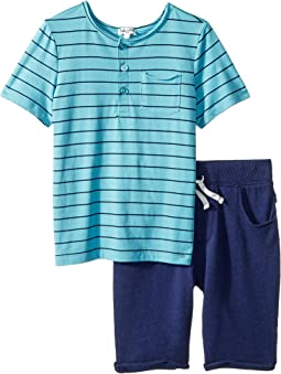 Yarn-Dye Henley Tee Set (Little Kids/Big Kids)