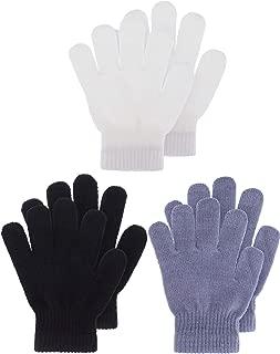 Kids Gloves Full Fingers Knitted Gloves Warm Mitten...