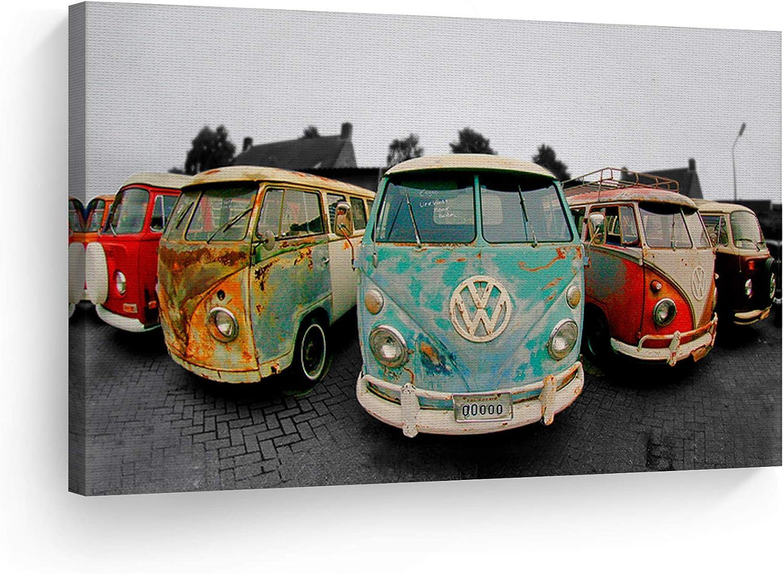 Decorative Canvas Limited time cheap sale Print Vintage Volkswagen Wa Art Bus Van shop Modern