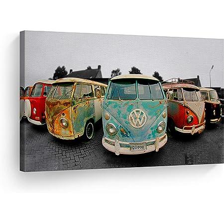 VOLKSWAGEN VW Vintage Retro Poster Print Canvas//Paper//Sticker