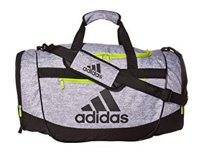 adidas Defender III Medium Duffel (Jersey Grey/Black/Semi Solar Slime) Bags