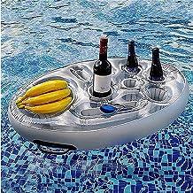 ZDDO Bandeja Inflable Bandeja Flotante para Piscina, Bandeja Flotante Inflable para Bebidas PortáTiles De para Piscina, Refrigerador De Enfriador Cerveza Flotante, Accesorios para Piscina A