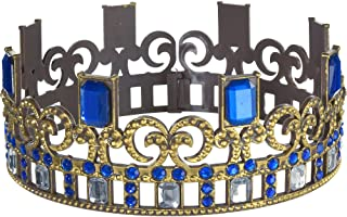 Party City Descendants 3 Audrey Crown for Children, One Size, Gold Tiara with Blue Gemstones and Clear Rhinestones
