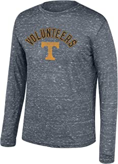 Top of the World NCAA Men's Tennessee Volunteers Team Color Hearitage Tri-blend Long Sleeve Tee Graphite Heather Medium