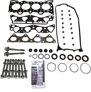 Head Gasket Set Bolt Kit Fits: 96-00 Honda Civic Del Sol 1.6L VTEC D16Y5 D16Y7 D16Y8