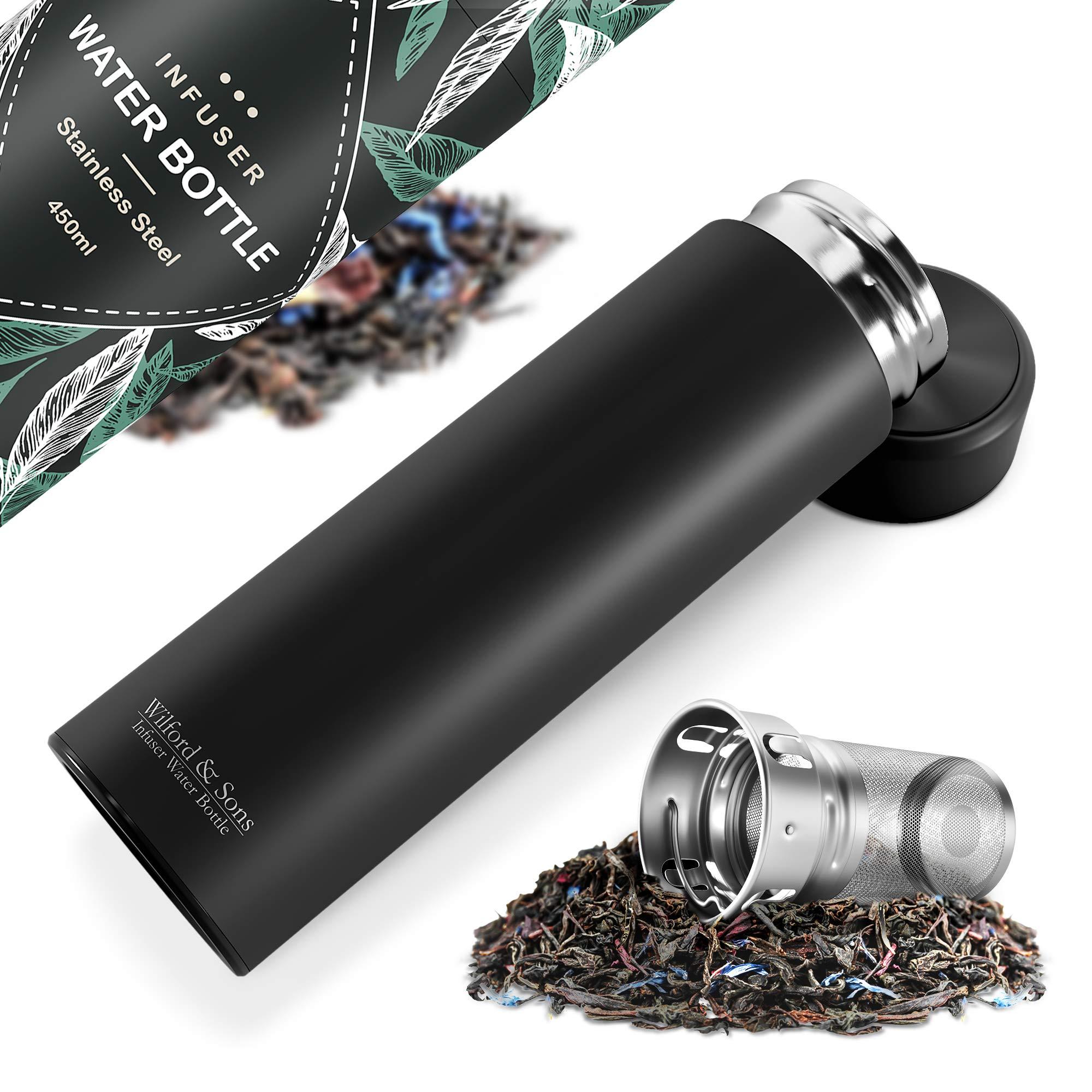 Botella de agua térmica infusor + filtro para té infusiones + ...