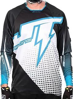 JT Racing MX Camiseta 2015 Voltaje Lite hiper blanco-negro cian - Blanco/Negro/Cian, L