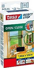 Tesa® Insect Stop Vliegengaas voor ramen om te openen en te sluiten, transparant, 1,3 m x 1,5 m (3-delige verpakking)