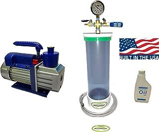 Clear Wood Stabilizing Vacuum Chamber + High Performance Vacuum Pump (16