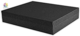 Mat Board Center, Pack of 10 3/16 BLACK Foam Core Backing Boards (11x14, Black)