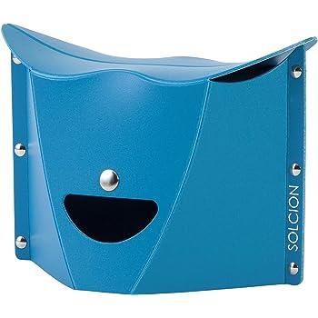 SOLCION 折りたたみチェア PATATTO μ パタットミュー ブルー PAM23 [組立時]25×17×高さ17.5cm(座面高さ15cm)、[折畳時]29×2×20.5cm
