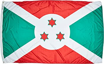 product image for Annin Flagmakers Model 191059 Burundi Flag Nylon SolarGuard NYL-Glo, 5x8 ft, 100% Made in USA to Official United Nations Design Specifications