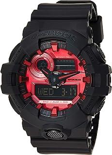 ساعة يد بعرض انالوج-رقمي ومينا احمر للرجال من كاسيو GA-700AR-1ADR (G1001)