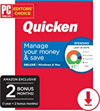 Quicken Deluxe Personal Finance 2020 - 14-Month Subscription [Amazon Exclusive] [PC/Mac Online Code]