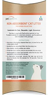 PetConfirm Nonabsorbent Cat Litter for Cat Urine Collection