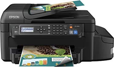 Epson WorkForce ET-4550 EcoTank Wireless Color All-in-One Supertank Printer with Scanner, Copier, Fax, Ethernet, Wi-Fi, Wi...