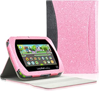 ACdream Case Fits 2019 New LeapPad Academy Kids' Learning Tablet, Multiple Angle Viewing with Pocket Business Cover Case for Leapfrog Epic Academy Edition/Leapfrog Epic Kids Tablet, (Glitter Pink)