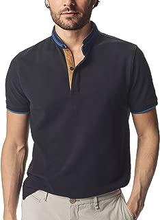 Navifalcon Mens Short Sleeve Classic Fit Cotton Pique...