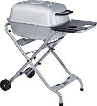 PK Grills SSB-X Original PKTX Outdoor Portable Aluminum Charcoal Grill and Smoker, Silver