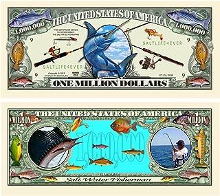 American Art Classics Salt Water Fishing Million Dollar Bill - Best Gift for Lovers of The Salt Life