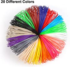 3D Pen PLA Filament Refills-Non Toxic, No Smell, 20Colors Including 4 Noctilcent,16 Feet Each, Compactible for Most of the 3d Pen, Safe for Kids Crafts