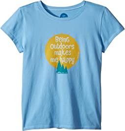 Outdoors Makes me Happy Crusher T-Shirt (Little Kids/Big Kids)