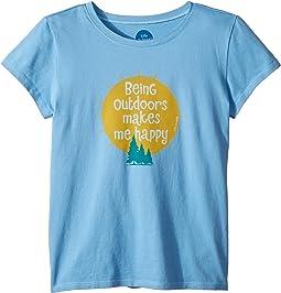 Outdoors Makes me Happy Crusher T-Shirt (Little Kids/Big Kids)