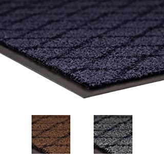 """NoTrax 125 Evergreen Diamond Superior Entrance Mat with Vinyl Non-Slip Backing, 3' Width x 4' Length x 3/8"""" Thickness, Blue"""