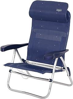 Crespo AL/205-C-41 - Silla Playa Dural. Desmontable. (Multifibra) Compact, Color Azul Marino