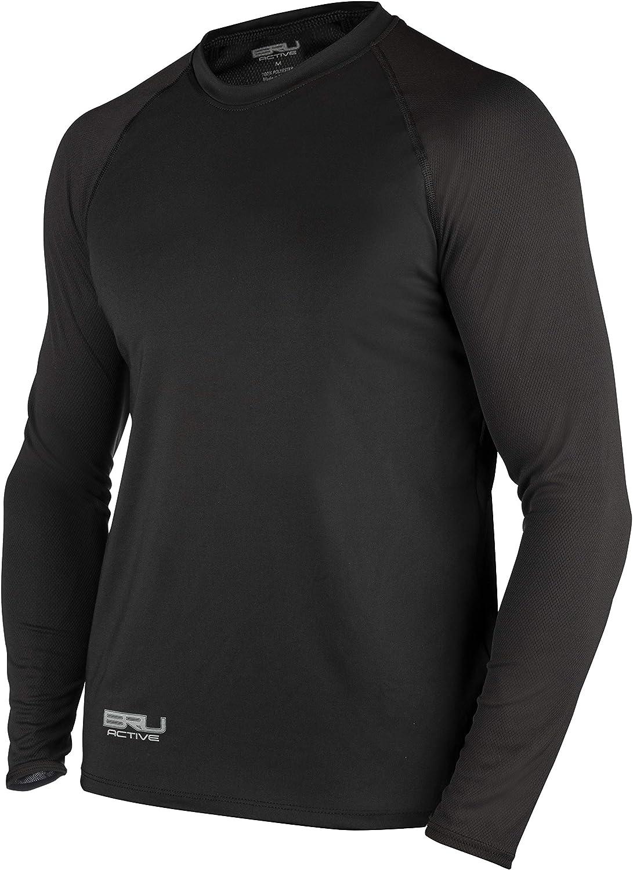 BRU Active Short/Long Sleeve Sun Protection Shirt Men UPF 50+ Rashguard