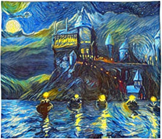 Westlake Art - Starry Night Fleece Blanket for Baby Girl or Boy, Toddlers, Soft, Warm, Cozy, Fleece, Throw Blanket for Infant or Newborn, Stroller, Travel, Decorative Van Gogh Style - 30x40in