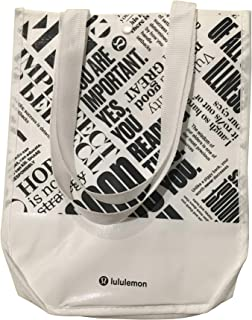 Lululemon 20th Anniversary Small Reusable Tote Carryall Gym Bag (White)