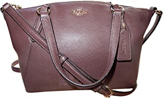 Coach Pebble Leather Mini Kelsey Satchel Crossbody Handbag (IM/Oxblood)