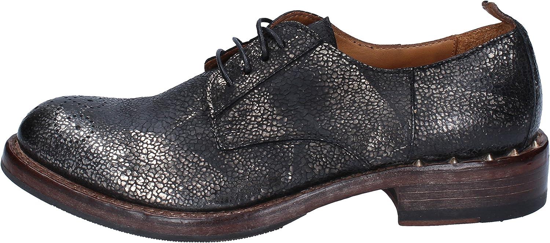 MOMA Oxfords-shoes Womens Snakeskin Black