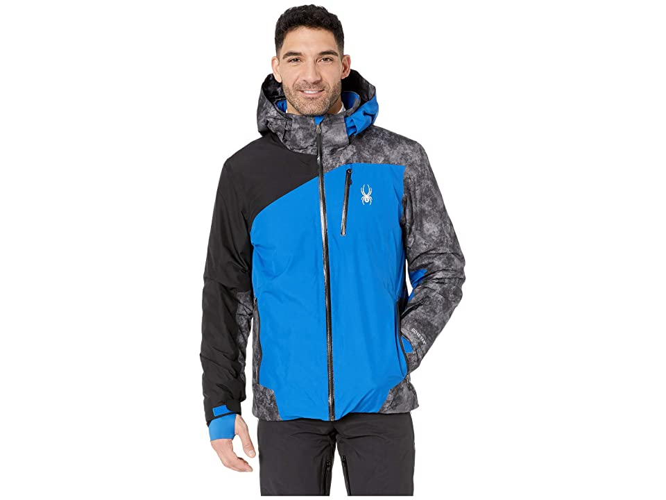 Spyder Copper Jacket (Turkish Sea/Cloudy Tonal Distress Polar/Black) Men's Coat