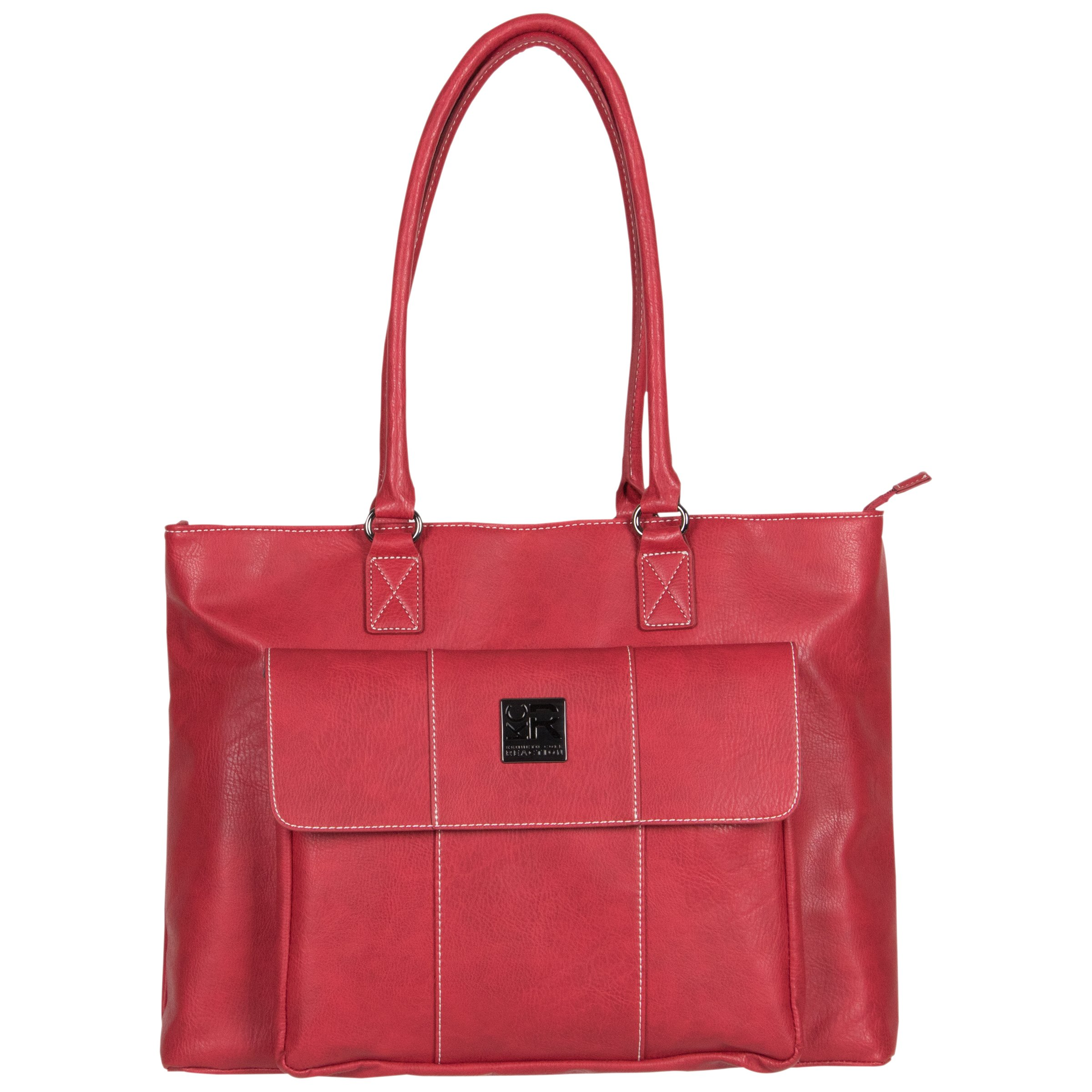 Womens Casual Pebbled Leather Business